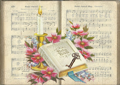Bible over hymnal