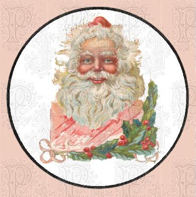 Santa in circle
